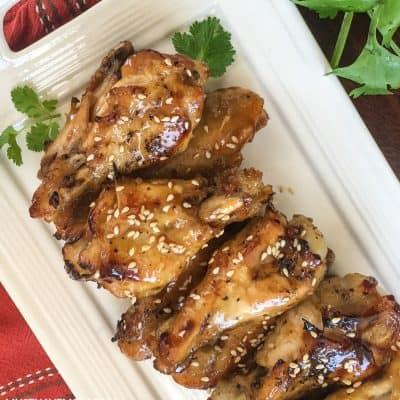 Instant Pot Sesame Garlic Chicken Wings