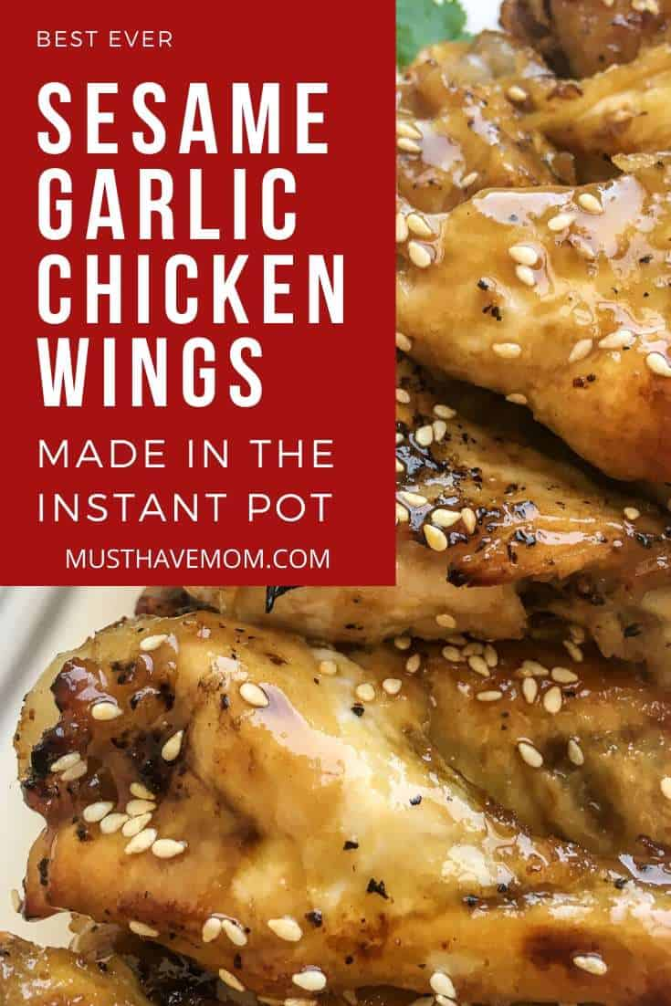 Easy Sesame Garlic Chicken Wings Recipe in Instant Pot