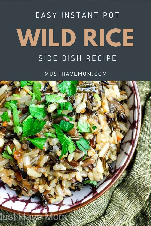 wild rice in instant pot