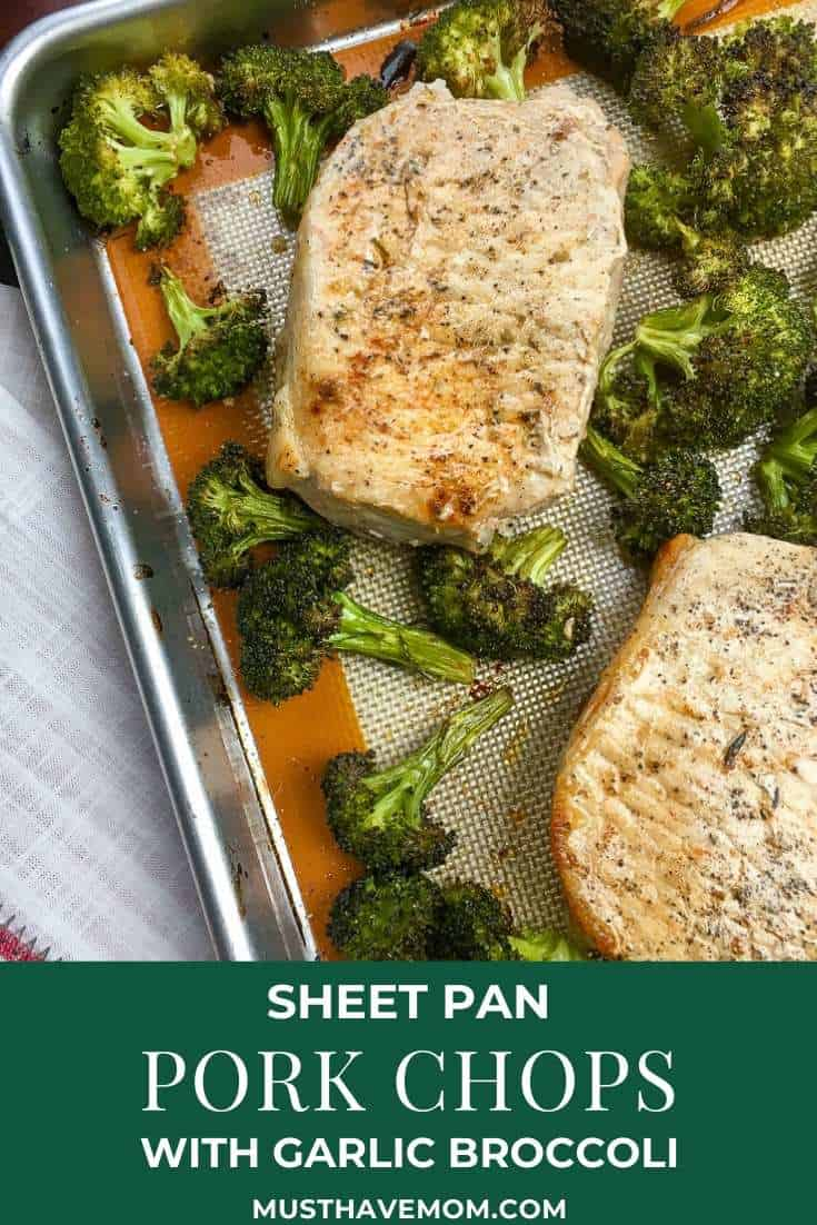 sheet pan pork chop dinner