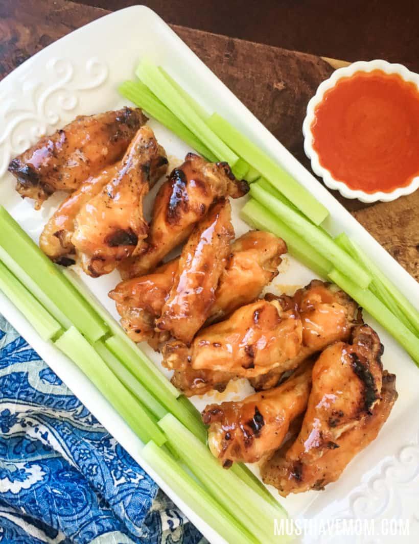garlic buffalo chicken wings instant pot