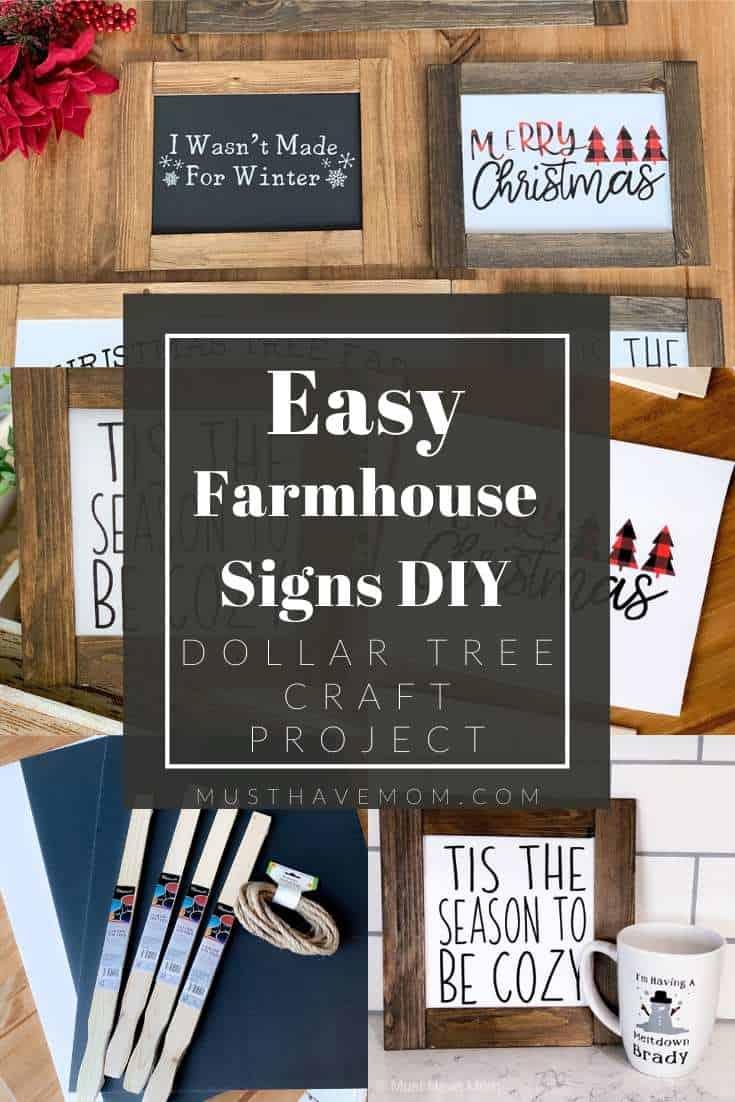 DIY farmhouse signs tutorial