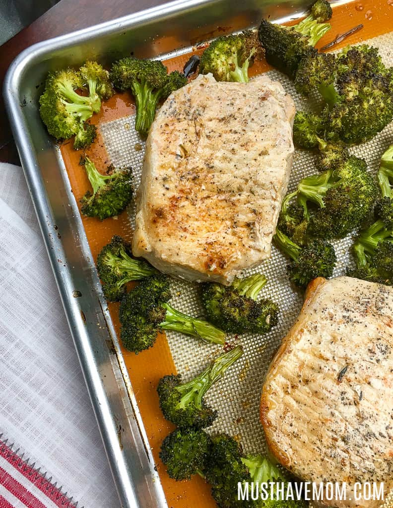 pork chop sheet pan dinner