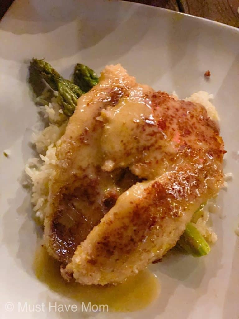 macadamia nut crusted snapper