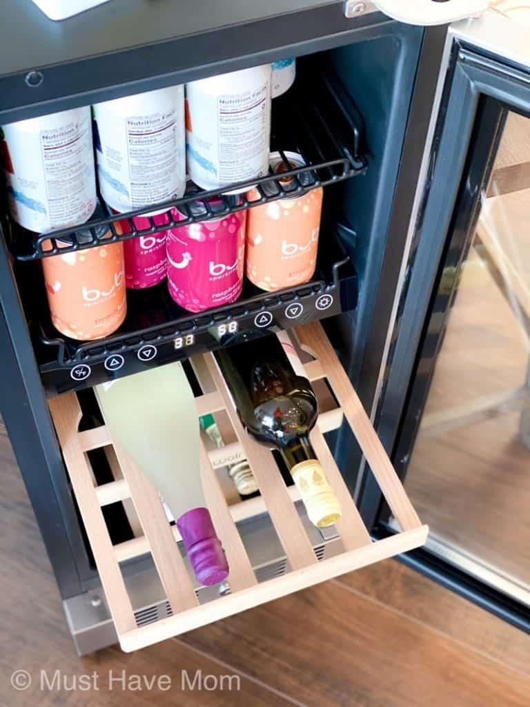 beer and wine fridge