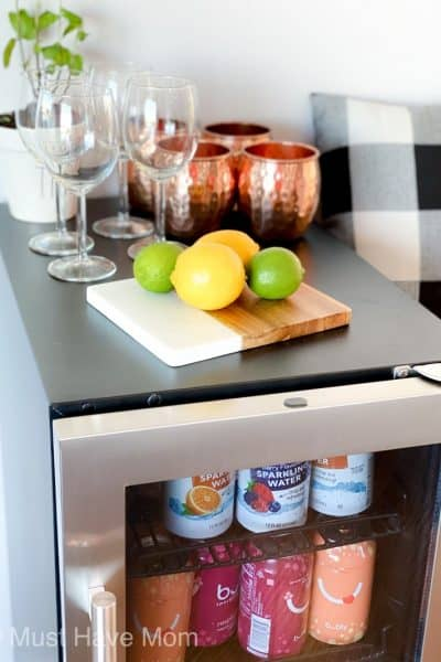 upscale mini fridge