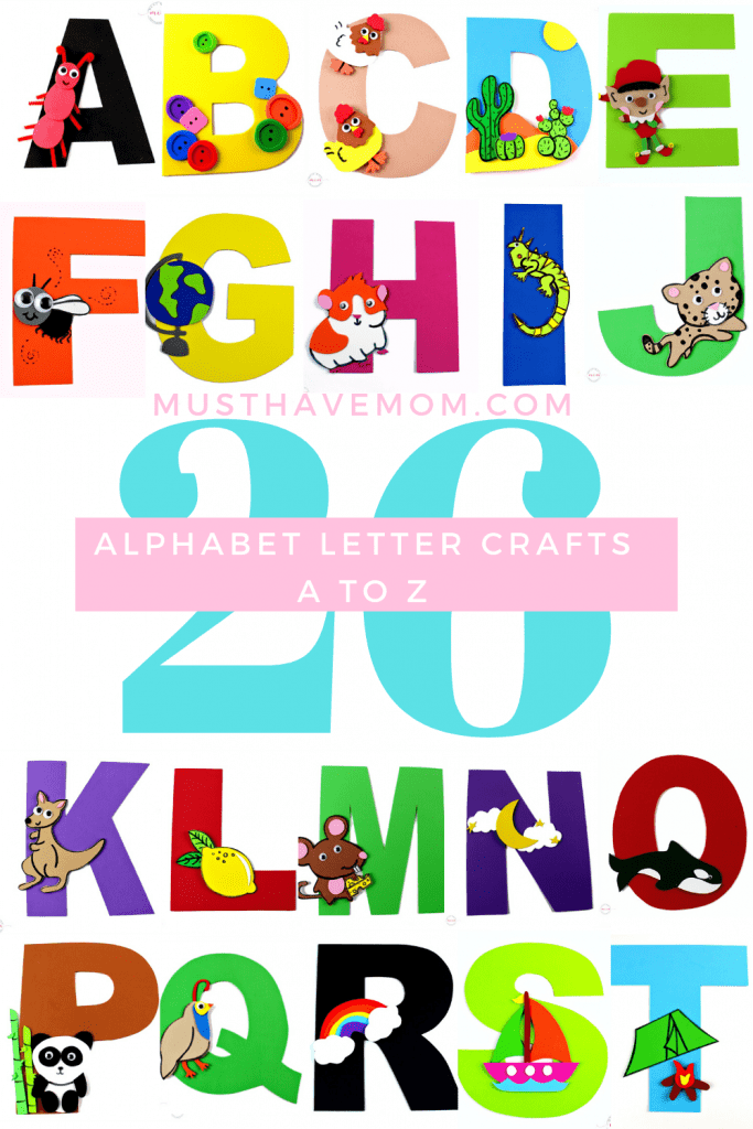A TO Z letter crafts