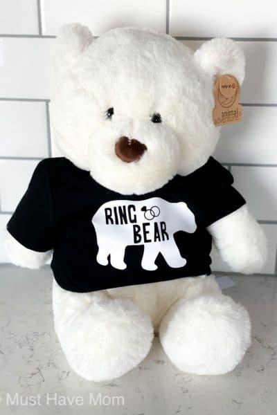 ring bear teddy bear