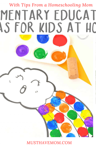 Do you find yourself with kids at home all the time now? These Elementary Education Ideas for Kids will help keep them occupied and learning.