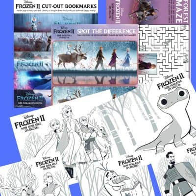 FREE Frozen 2 Coloring Pages + Activity Sheets {Printable}