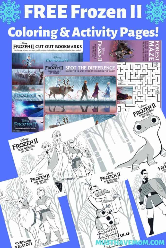 frozen 2 coloring pages