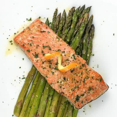 Sheet Pan Salmon with Asparagus