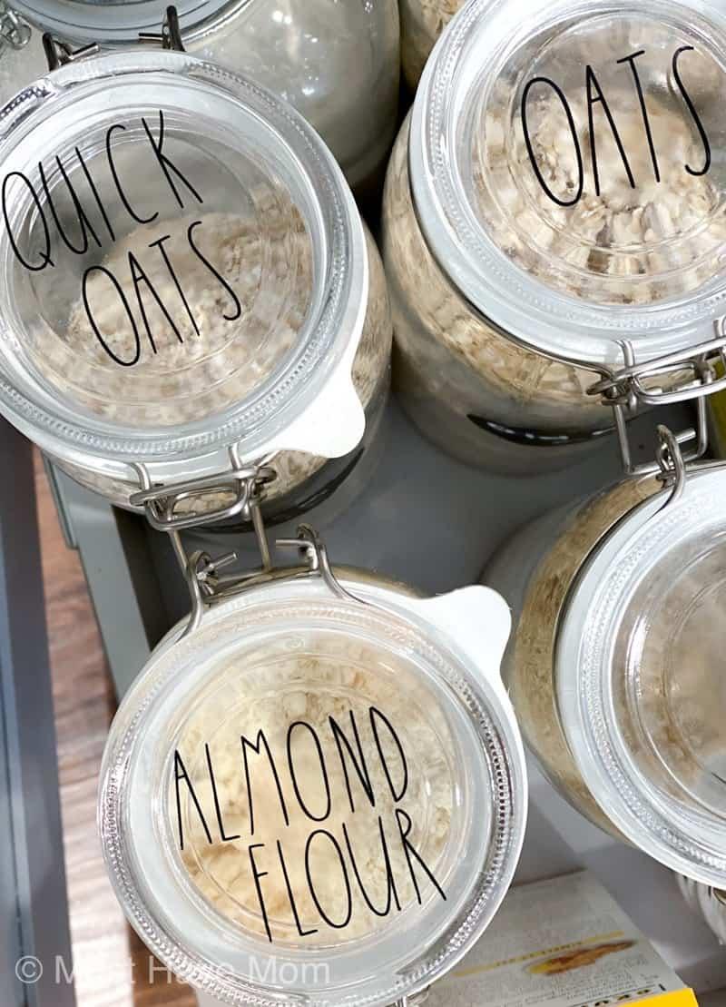 DIY Rae Dunn pantry labels