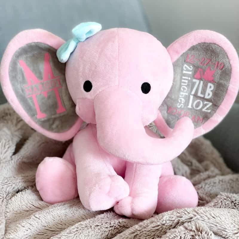 Cricut Elephant Birth Announcement