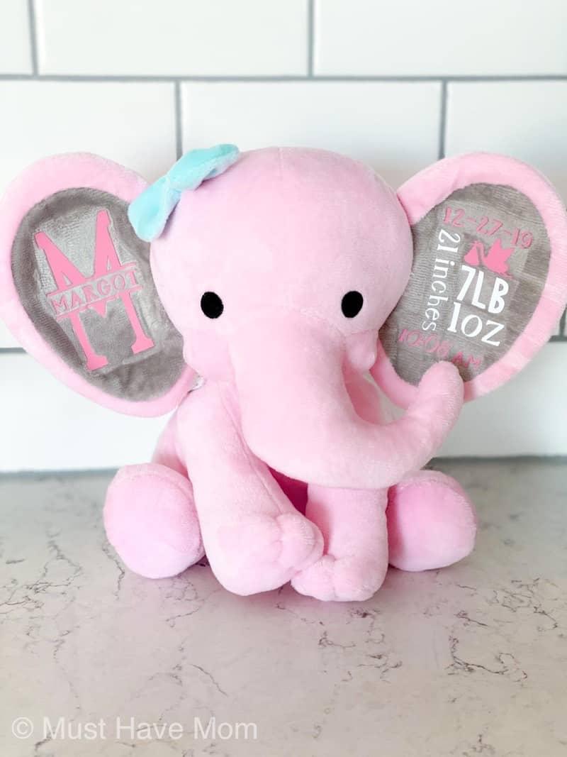 birth stat elephant DIY