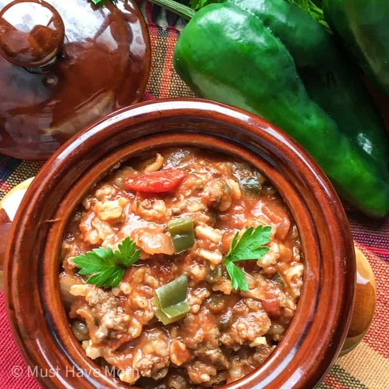 easy stuffed pepper soup recipe
