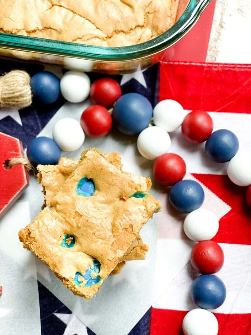 4th of july cookie bars