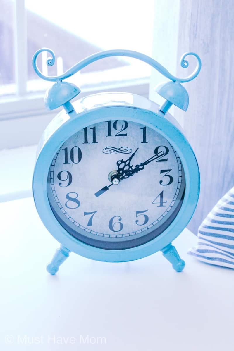 farmhouse bedroom clock