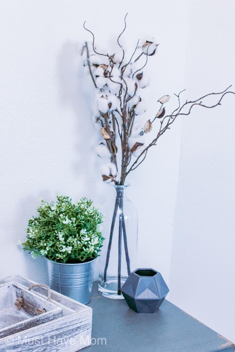 easy cotton stem decor