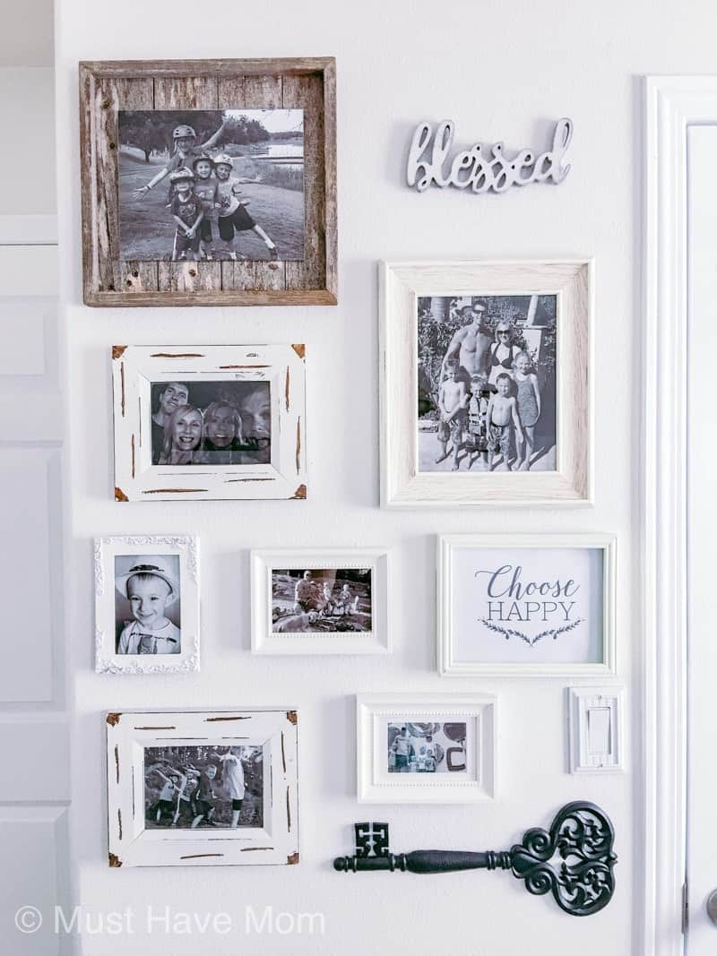 farmhouse bedroom gallery wall