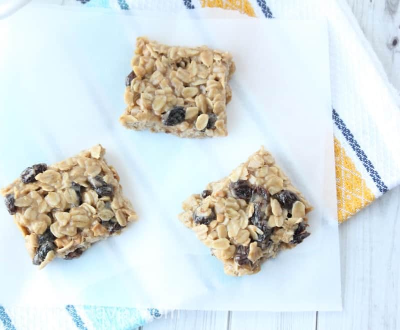 cut energy bars into squares