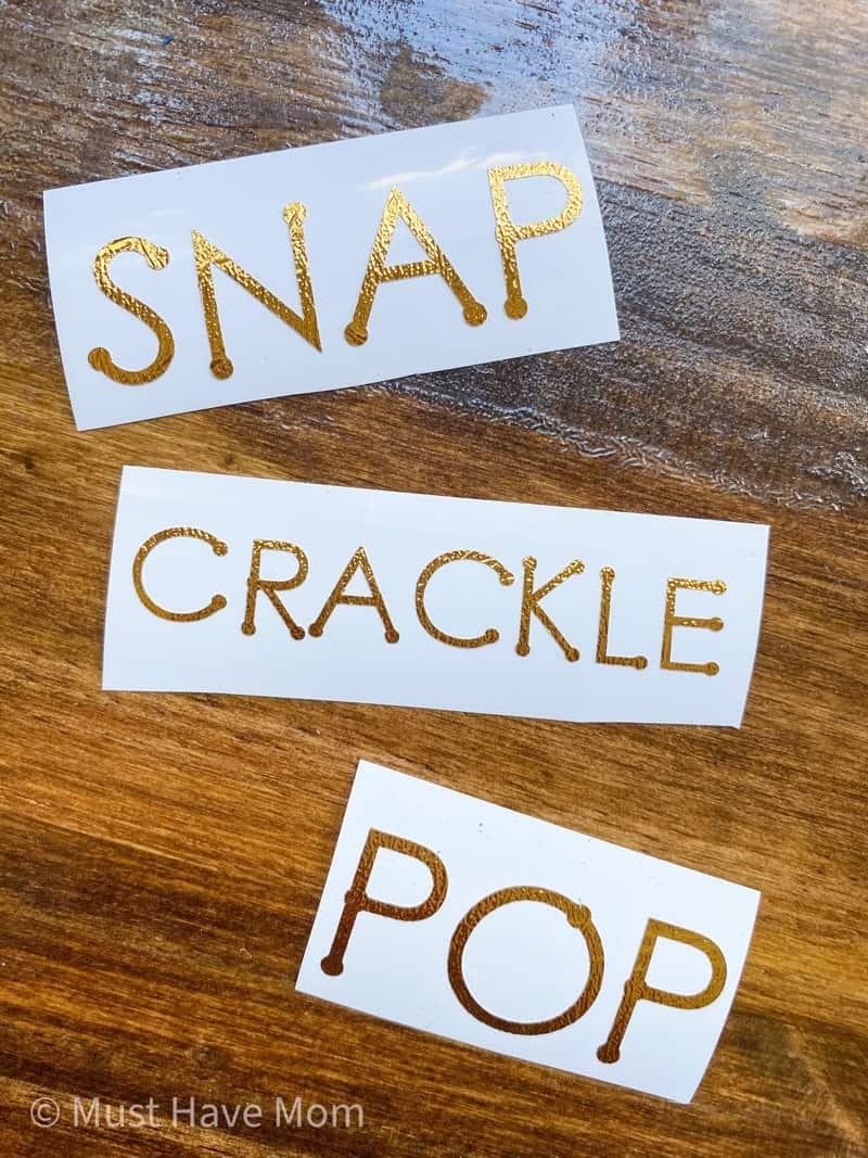 snap crackle pop mason jars
