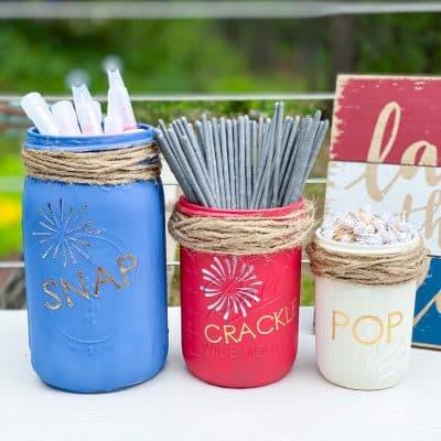 4th of July Craft – Snap Crackle Pop Mason Jars