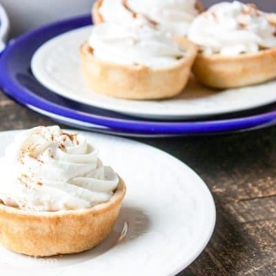 pumpkin pie tartlets