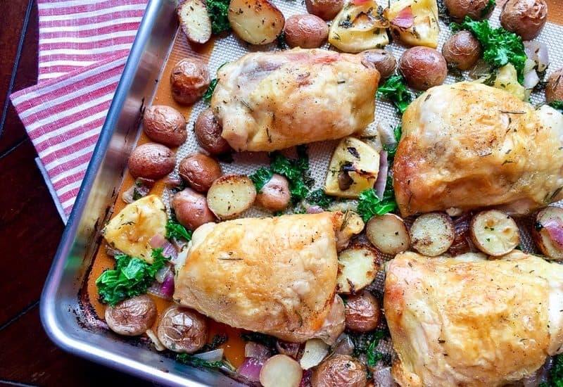 baked chicken sheet pan dinner