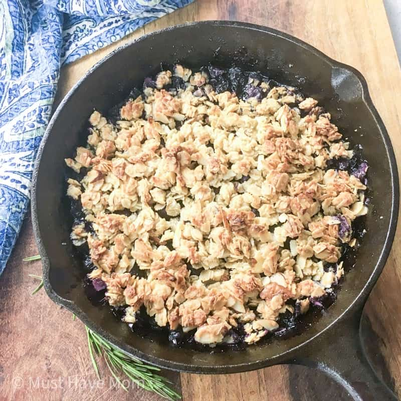 blueberry crisp easy