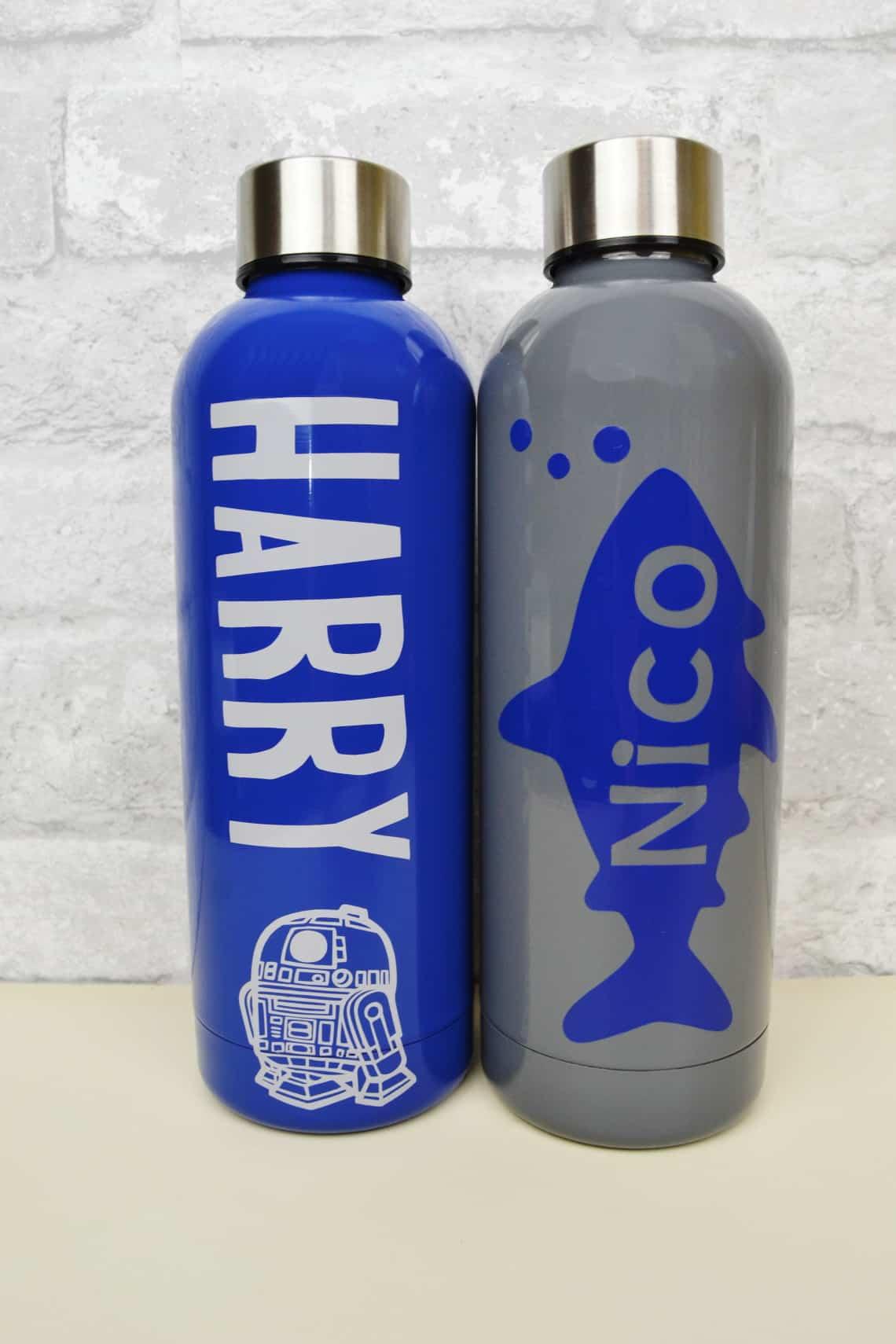 Cricut personalized kids water bottles