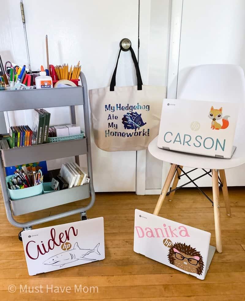 personalized school supplies DIY