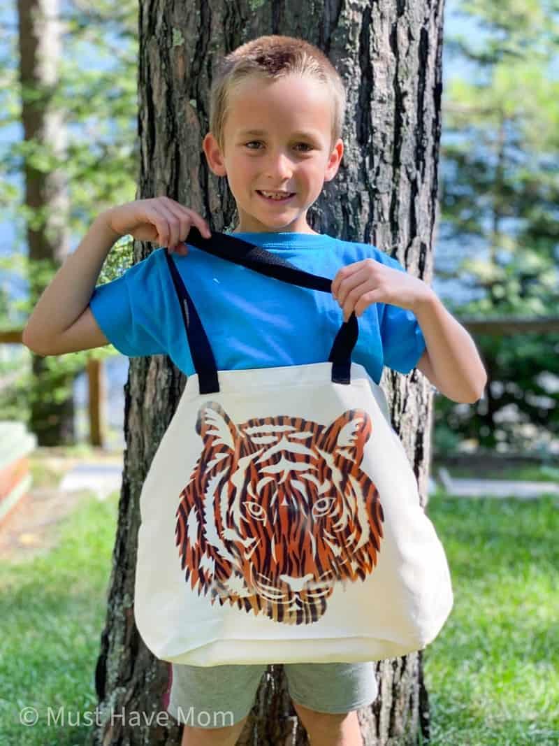 tiger book bag