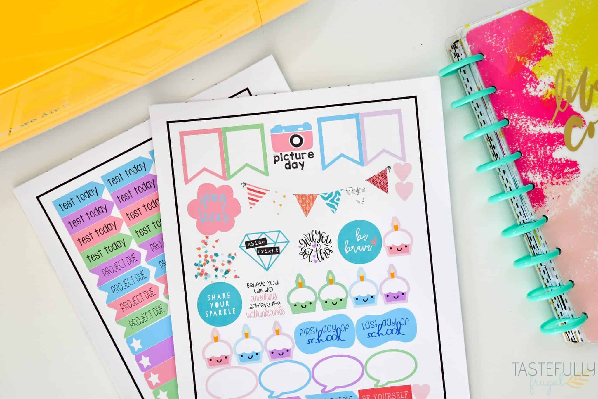 Personalized planner stickers Cricut project