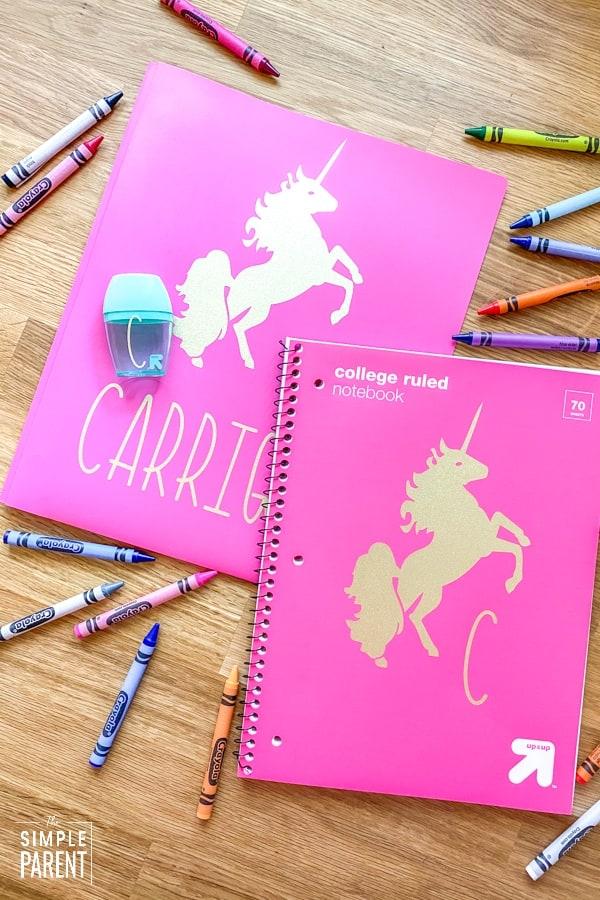 diy folders and notebooks cricut project