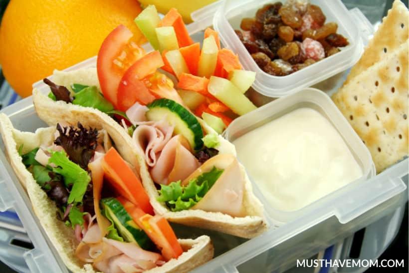 pita pockets bento box lunch ideas