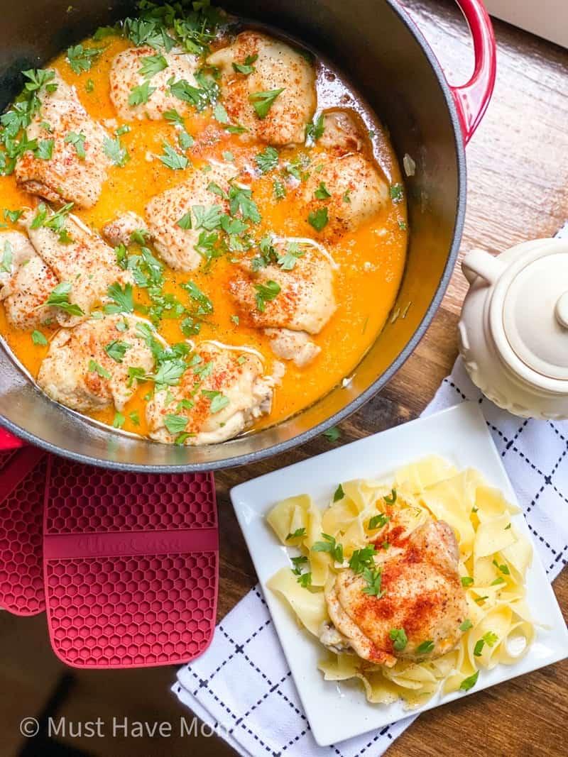 dutch oven chicken paprikash