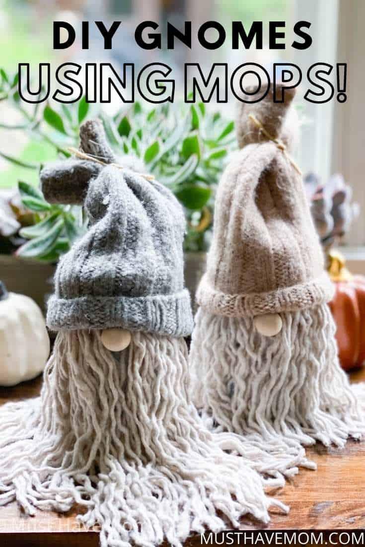 diy gnomes using mops