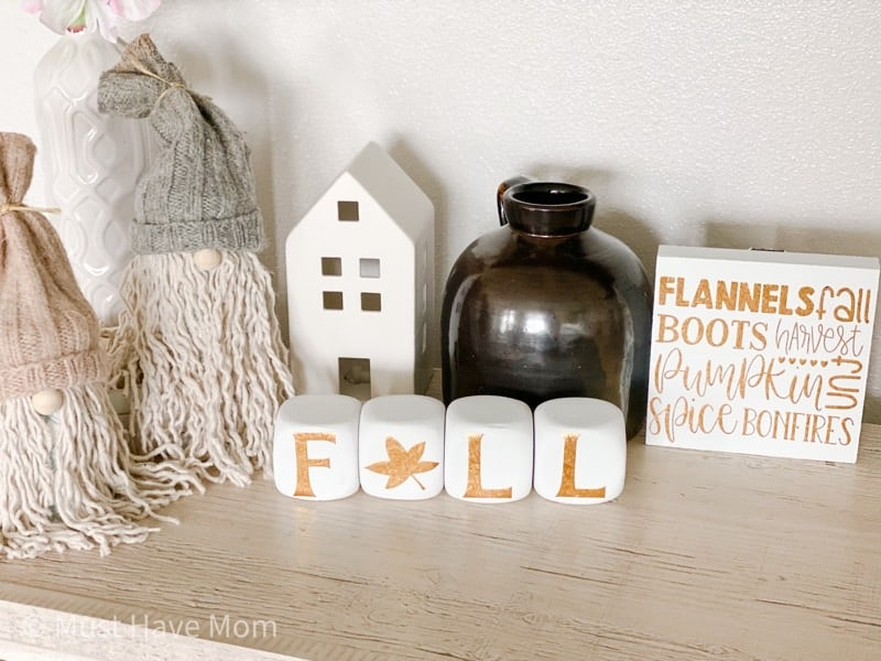 fall decor cricut project
