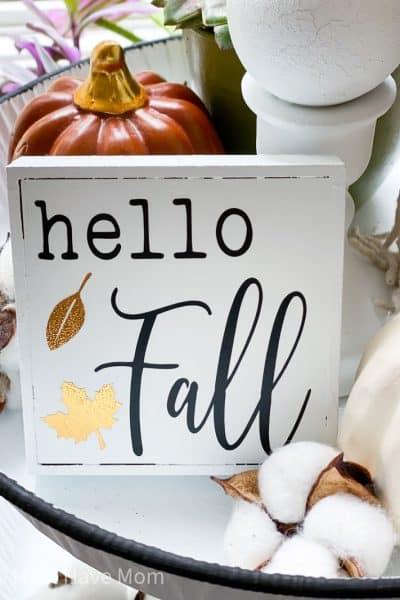 Hello Fall sign DIY