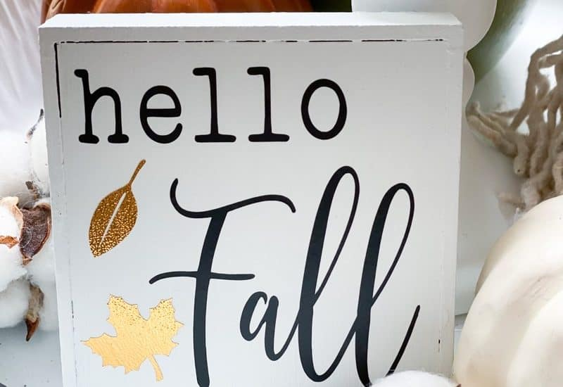 Hello Fall sign DIY