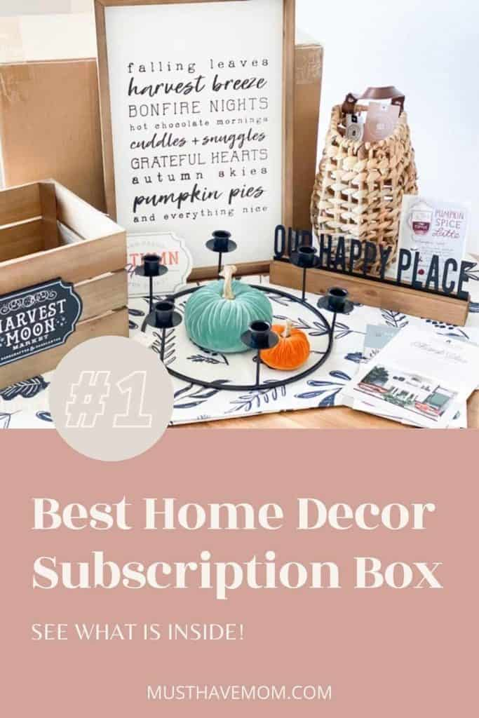 Best home decor subscription box