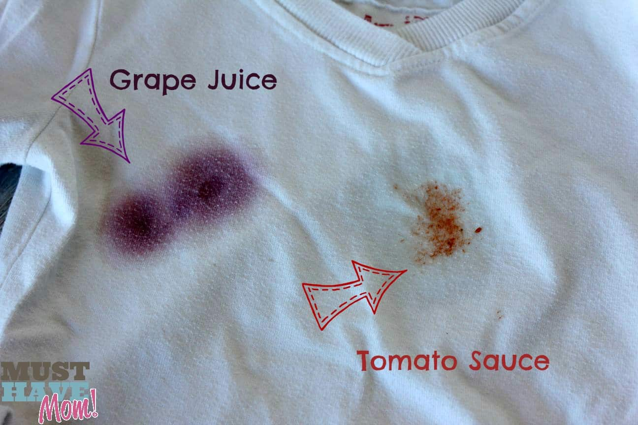Biz - How to remove grape juice and tomato sauce stains - Must Have Mom