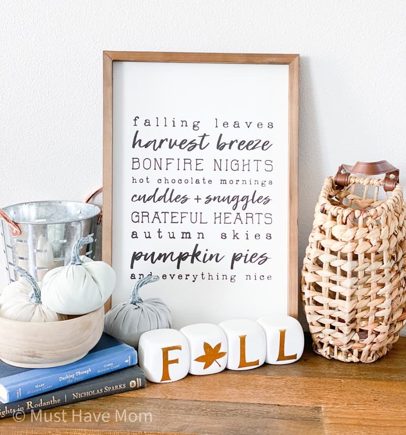 fall 2020 decorated box items