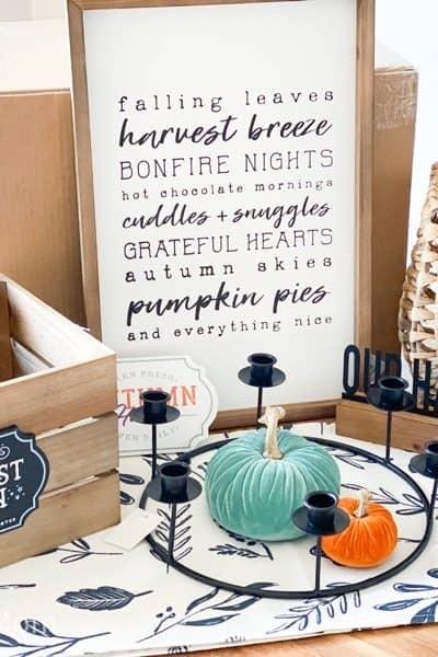decorated fall 2020 box