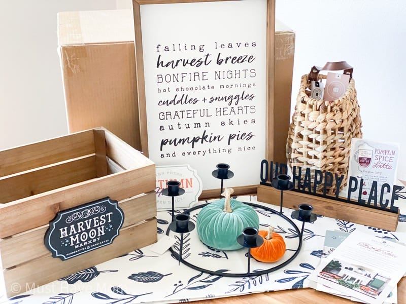 decorated fall 2020 box