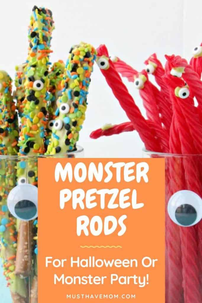 pretzel rods dipped in candy waferes