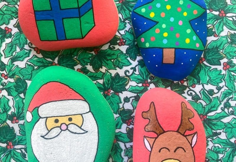 Christmas rock painting ideas