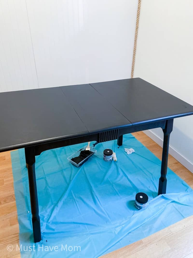 how to prep and paint a table