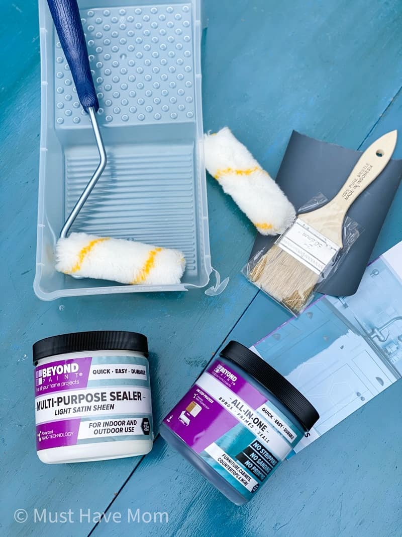 beyond paint supplies to paint a table